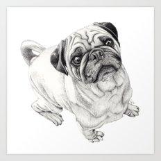 Seymour the Pug Art Print