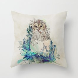 Night Frost Throw Pillow