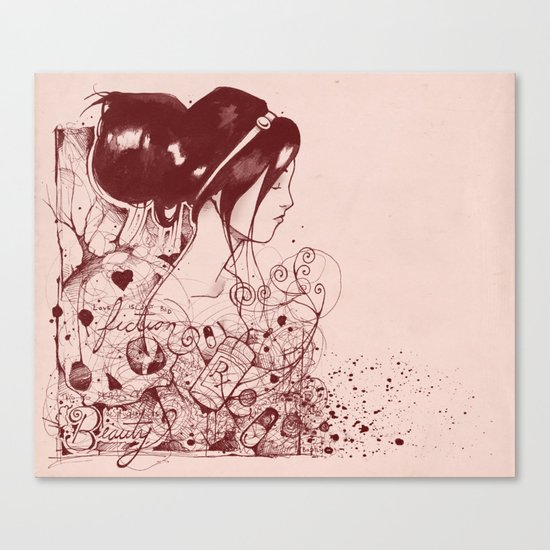 Fiction and Beauty Canvas Print