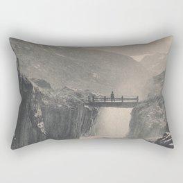 Boy on a Bridge Litho Rectangular Pillow