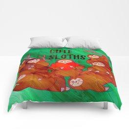 Cute Sloths Comforters