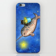 Hanging Stars with a Friendly Narwhal iPhone & iPod Skin