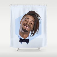danny haas Shower Curtains featuring Danny Brown by LinnMaria_ink