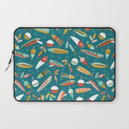 Fishing Lures Blue Laptop Sleeve