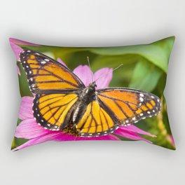 Orange Viceroy Butterfly Rectangular Pillow