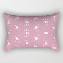 Eye pattern in pink Rectangular Pillow