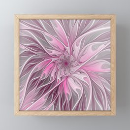 Abstract Pink Floral Dream Framed Mini Art Print