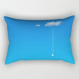 Swing in the clouds Rectangular Pillow