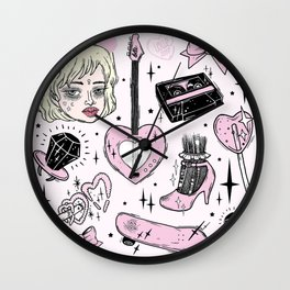 GRRRL POWER Wall Clock