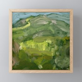 Landscape 1 Mountains Farm Framed Mini Art Print