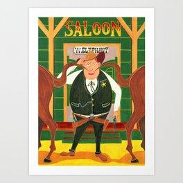 Twin tale & The Sheriff Art Print