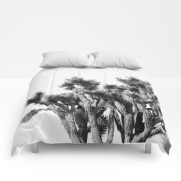 Joshua Tree - Black and White Comforters