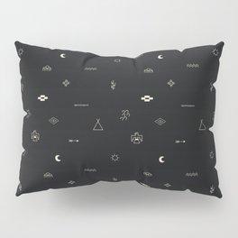 Southwestern Symbolic Pattern in Black & Cream Pillow Sham
