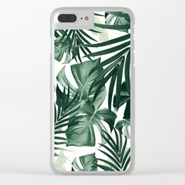 Tropical Jungle Leaves Pattern #4 #tropical #decor #art #society6 Clear iPhone Case