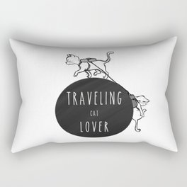 traveling cat lover Rectangular Pillow