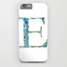 Floral Monogram Letter E iPhone 6 Slim Case