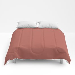 Redwood Pink Coral | Solid Colour Comforters