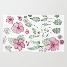 Watercolor Flower Rug