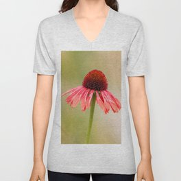 Dreamy Cone Flower Unisex V-Neck