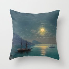 Evening in Crimea by Ivan Aivazovsky Throw Pillow