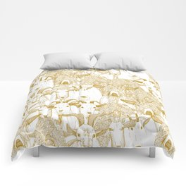 just goats gold Comforters