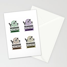 Winners Never Quit 2 Stationery Cards