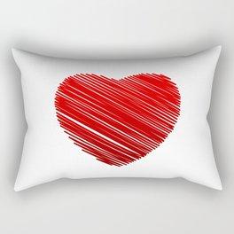 Scribbled red valentine heart- be my valentine Rectangular Pillow