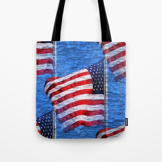 Vintage American Flag  Tote Bag