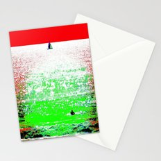 Sailboat and Swimmer (2a) Stationery Cards