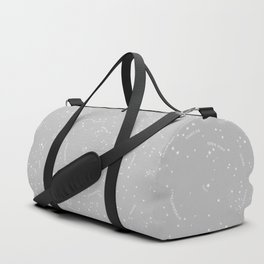 Constellation Map - Gray Duffle Bag