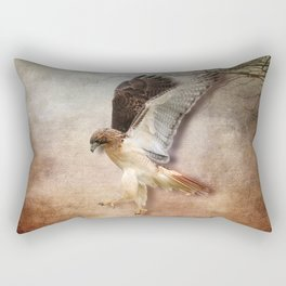 Red Tail Hawk in Vintage Light Rectangular Pillow