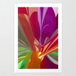 colorful 3D-pattern -1- Art Print