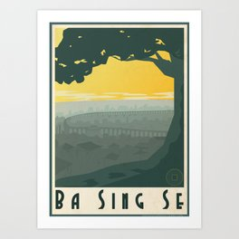 Ba Sing Se Travel Poster Art Print