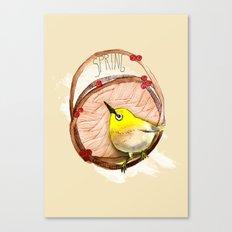 Spring birdy / Nr. 1 Canvas Print