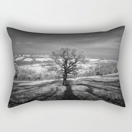 Lone tree over the East Somerset Railway Rectangular Pillow
