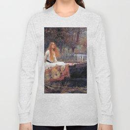 THE LADY OF SHALLOT - WATERHOUSE Long Sleeve T-shirt