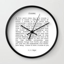 Take Chances Wall Clock