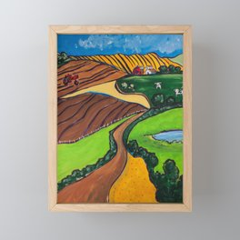 Down a Country Road Framed Mini Art Print