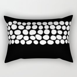 Soft White Pearls on Black Rectangular Pillow