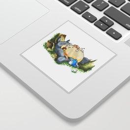 Ghibli forest illustration Sticker