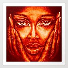 look at me /red/ Art Print