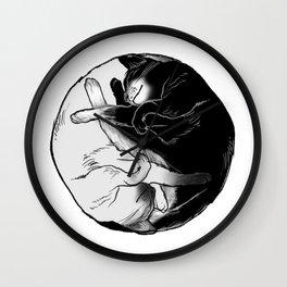 purrfect circle Wall Clock