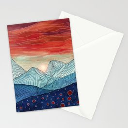 Lines in the mountains IV Stationery Cards