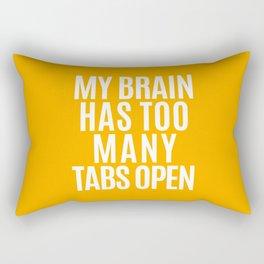 My Brain Has Too Many Tabs Open (Orange) Rectangular Pillow