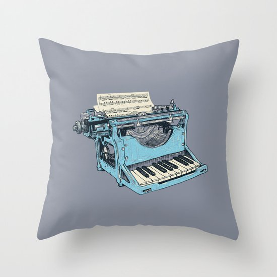 The Composition. Throw Pillow