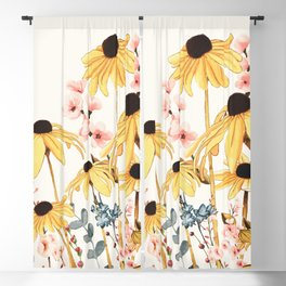 Summer Flowers Blackout Curtain