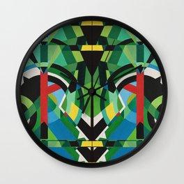 greens mirror Wall Clock