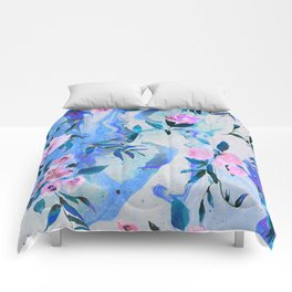 Floral Marble Swirl Comforters