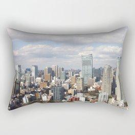 The Tokyo Skyline from Tokyo Tower Rectangular Pillow