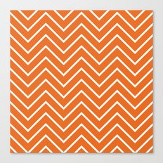 Orange Chevron Canvas Print
